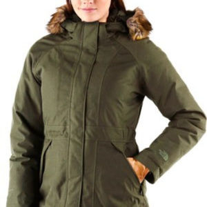 Hunter Green North Face Womens Arctic Down Jacket